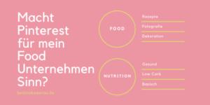 Macht Pinterest für mein Food Business Sinn?